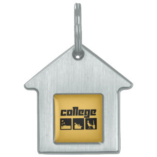 Universidad 3 placas de nombre de mascota
