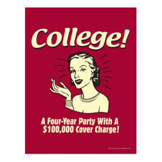 Universidad: 4 cubierta del fiesta 100.000 del año postal