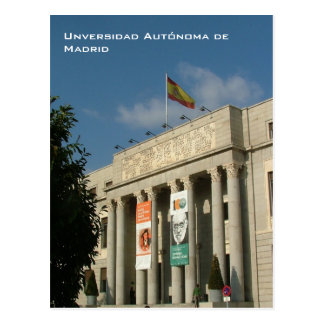 Universidad Autonoma de Madrid Postcard