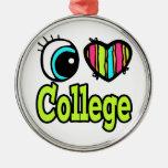Universidad brillante del amor del corazón I del o Ornamento Para Arbol De Navidad