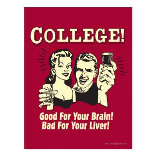 Universidad: Bueno para el malo del cerebro para e Tarjetas Postales