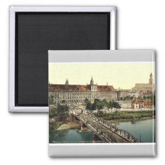 Universidad con el puente, Breslau, Silesia, Alema Imanes Para Frigoríficos