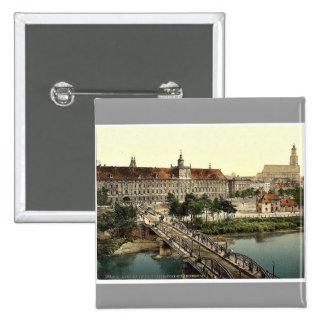 Universidad con el puente, Breslau, Silesia, Alema Pin