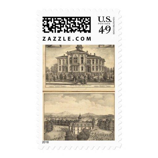 Universidad cristiana y universidad metodista sellos