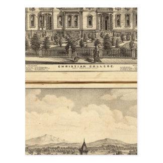 Universidad cristiana y universidad metodista tarjeta postal