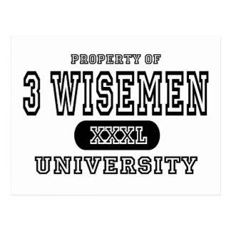 Universidad de 3 Wisemen Postales