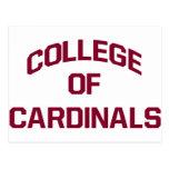 Universidad de cardenales postales
