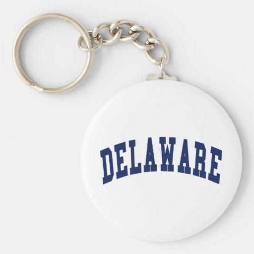 Universidad de Delaware Llavero Redondo Tipo Pin