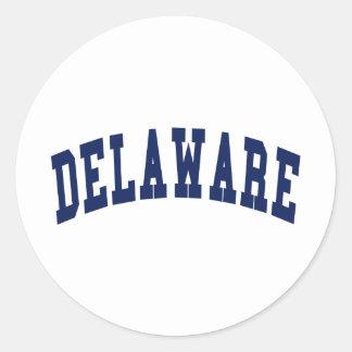 Universidad de Delaware Pegatinas Redondas