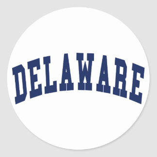 Universidad de Delaware Etiqueta Redonda