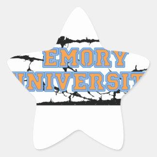 Universidad de Emory Pegatina En Forma De Estrella