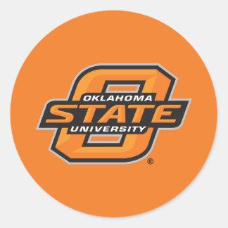 Universidad de estado de Oklahoma Pegatina Redonda