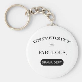 Universidad de fabuloso (departamento del drama) llavero redondo tipo pin