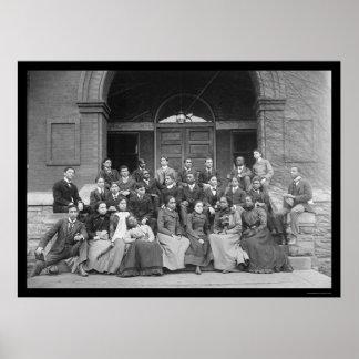 Universidad de Fisk en Nashville, TN 1900 Póster