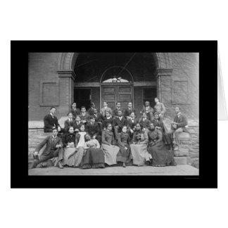 Universidad de Fisk en Nashville, TN 1900 Tarjeta De Felicitación