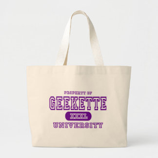 Universidad de Geekette Bolsa Tela Grande