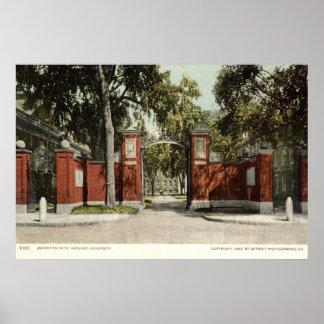 Universidad de Harvard 1902 de la puerta de Johnso Póster