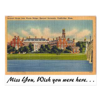 Universidad de Harvard, Cambridge, Massachusetts Tarjetas Postales