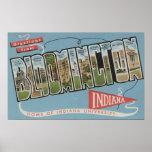 Universidad de Indiana - escenas grandes de la let Póster