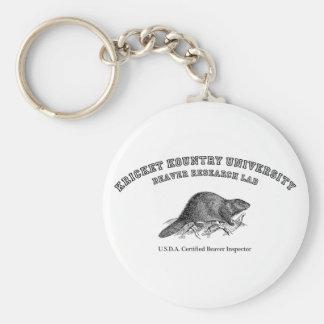 Universidad de Kricket Kountry, laboratorio de inv Llavero Redondo Tipo Pin