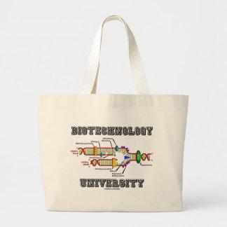 Universidad de la biotecnología (réplica de la DNA Bolsas Lienzo