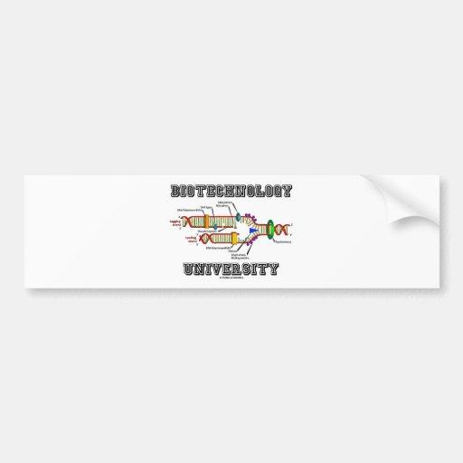 Universidad de la biotecnología (réplica de la DNA Pegatina Para Auto