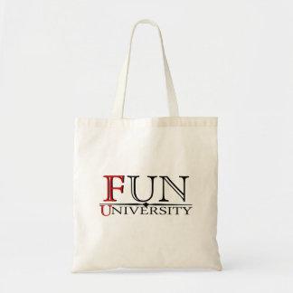 Universidad de la diversión ocultada significando  bolsa tela barata