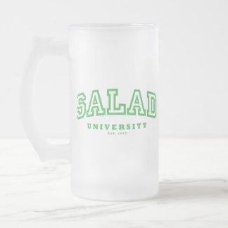 Universidad de la ensalada (taza del vidrio esmeri