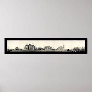 Universidad de la foto 1908 de Kansas Póster