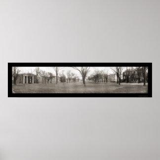 Universidad de la foto 1909 de Carolina del Sur Póster