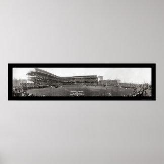 Universidad de la foto 1915 del fútbol de Pittsbur Póster