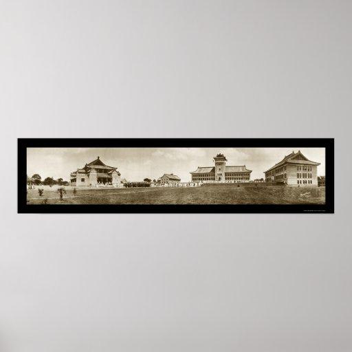 Universidad de la foto 1920 de Nanking Póster
