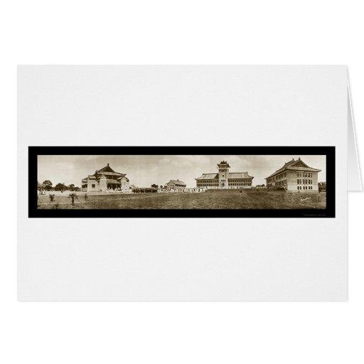 Universidad de la foto 1920 de Nanking Tarjeta
