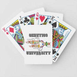 Universidad de la genética humor de la réplica de cartas de juego