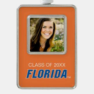 Universidad de la graduación de la Florida Marcos De Adorno Plateado