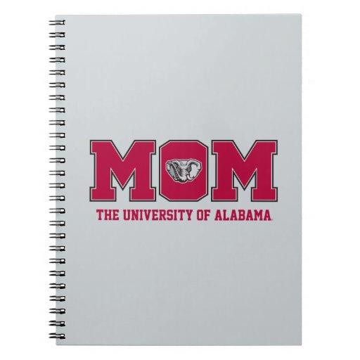 Universidad de la mamá de Alabama Cuadernos