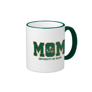 Universidad de la mamá de Miami Taza A Dos Colores