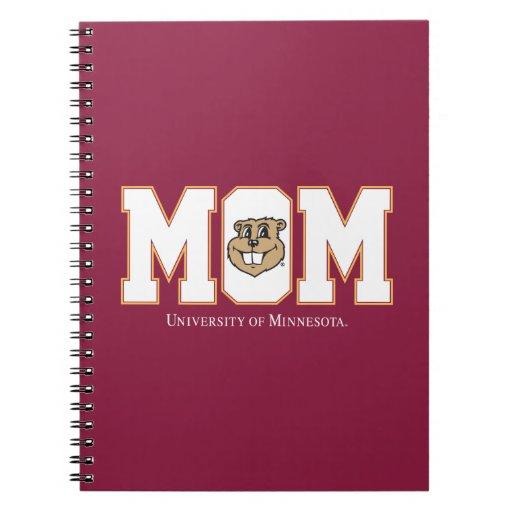 Universidad de la mamá de Minnesota Libreta Espiral