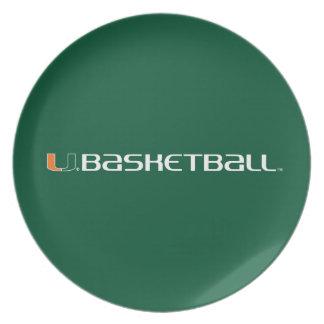 Universidad de la marca del baloncesto de Miami Platos