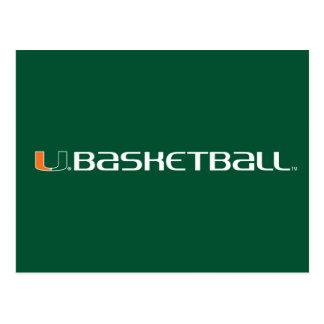 Universidad de la marca del baloncesto de Miami Tarjetas Postales