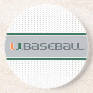 Universidad de la marca del béisbol de Miami Posavasos Cerveza