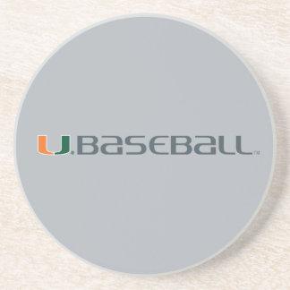 Universidad de la marca del béisbol de Miami Posavasos Manualidades