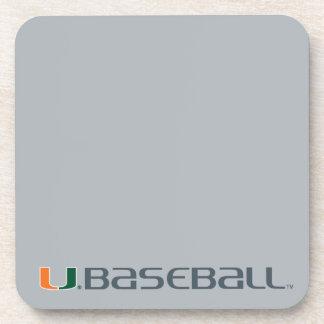 Universidad de la marca del béisbol de Miami Posavasos De Bebida