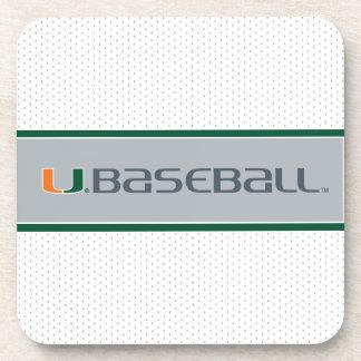 Universidad de la marca del béisbol de Miami Posavasos De Bebidas