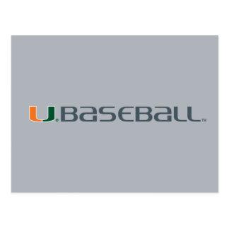 Universidad de la marca del béisbol de Miami Postales