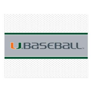 Universidad de la marca del béisbol de Miami Tarjeta Postal