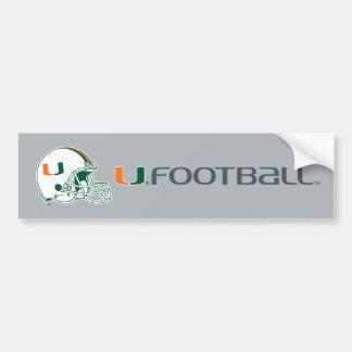 Universidad de la marca del casco de Miami Pegatina De Parachoque