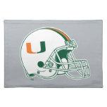 Universidad de la marca del casco de Miami Manteles Individuales