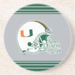 Universidad de la marca del casco de Miami Posavasos Manualidades