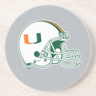 Universidad de la marca del casco de Miami Posavasos Personalizados